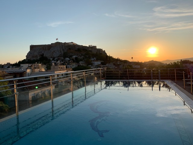 Sunset at Astra Suites
