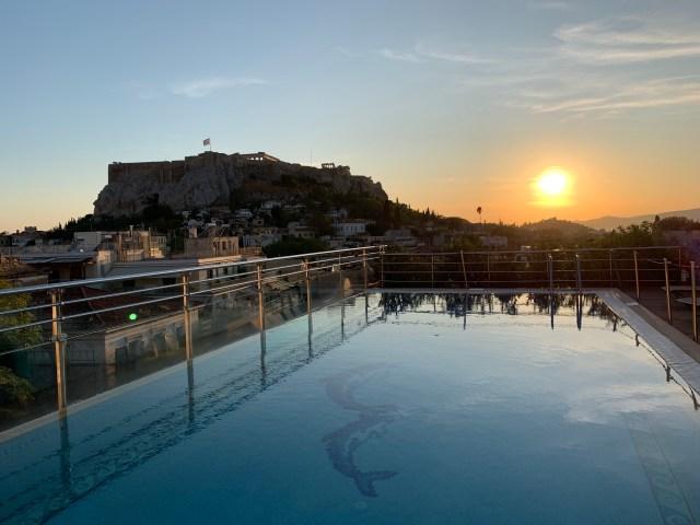 Sunset at Electra Palace, Athens Greece