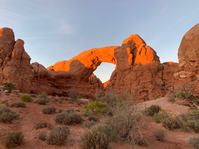Sunset at Arches Park