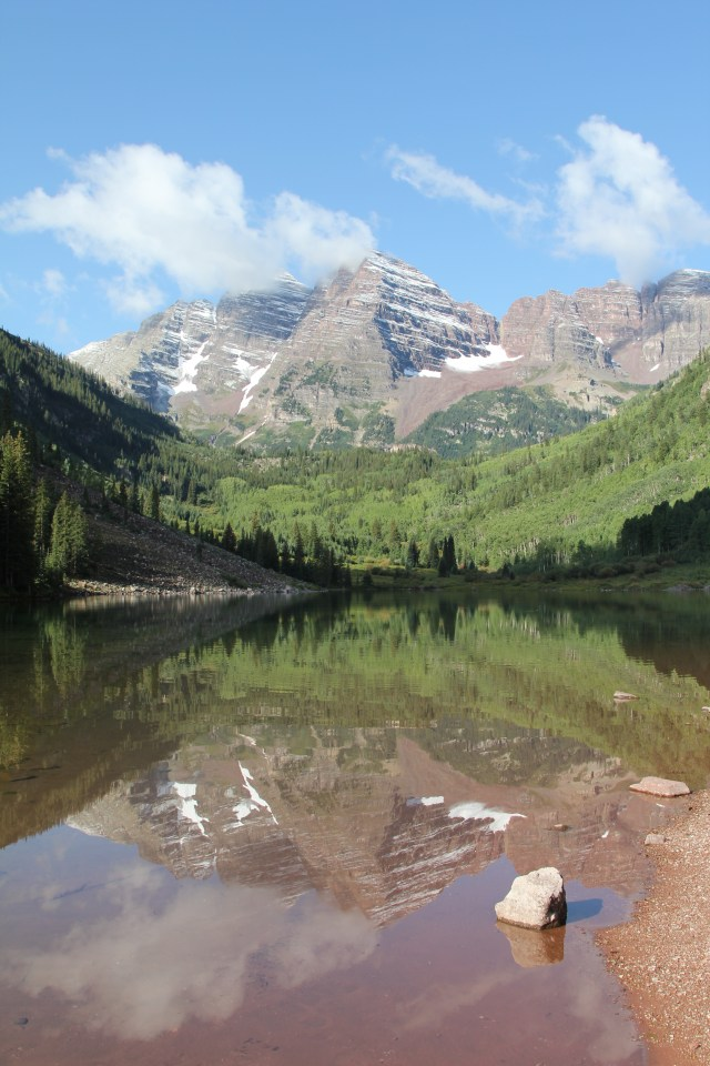 Maroon Bells and Maroon Lake