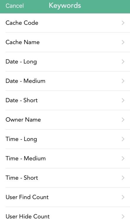 cachly-keyword-log-template