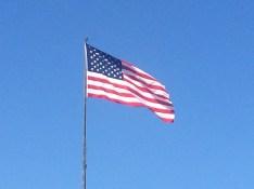 stars and stripes Liberty Island
