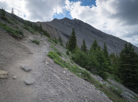 Looking back towards Mount Lawrence Grassi
