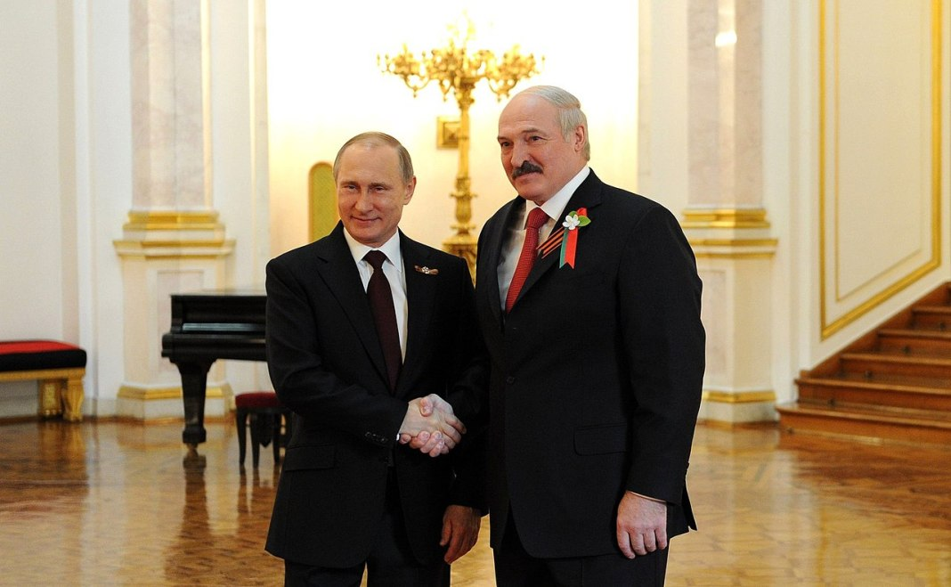 Putin with Alexander Lukashenko