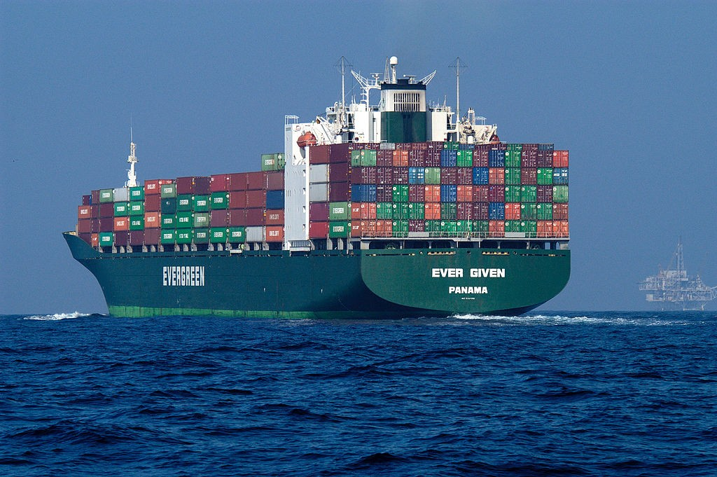 Container Ship Evergreen