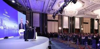 Singaporean Prime Minister Lee Hsien Loong at the IISS Shangri-La Dialogue