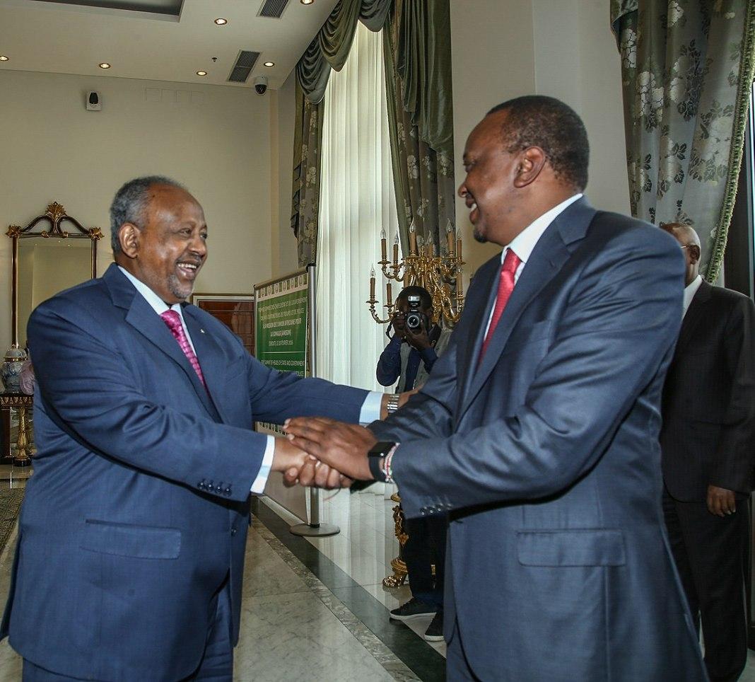 President Kenyatta of Kenya and President Guelleh of Djibouti