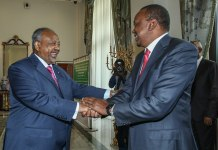 President Kenyatta of Kenya and President Guelleh of Djibouti