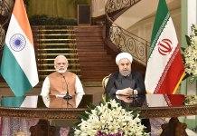 Prime Minister Narendra Modi and President Hassan Rouhani