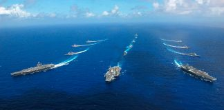 Ronald Reagan, Abraham Lincoln and Kitty Hawk carrier strike groups