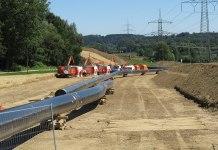 Gas Pipeline Forchheim Finsing Bauarbeiten