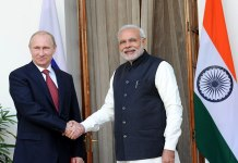President Vladimir Putin with PM Modi