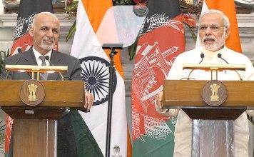 President Ashraf Ghani and PM Modi
