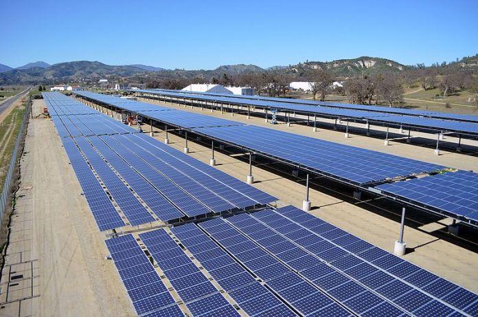 Solar power project in Fort Hunter Liggett