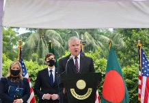 Deputy Secretary Biegun and Bangladeshi Foreign Secretary Momen Address Reporters in Dhaka