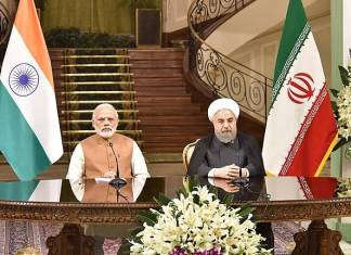 PM Narendra Modi and the President of Iran, Mr. Hassan Rouhani