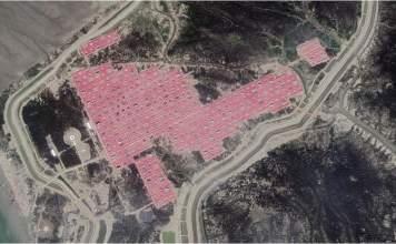 Satellite image of Bhasan Char