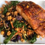 This super easy Orange Chili Salmon recipe is under 30 carbs, 8 ingredients and ready in 15 minutes! Also gluten free, dairy free, grain free and Pescatarian. thegestationaldiabetic.com