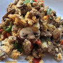 Mix it up for breakfast with 5-ingredient Asian Scramble, done in 10 minutes: Keto and Paleo! thegestationaldiabetic.com