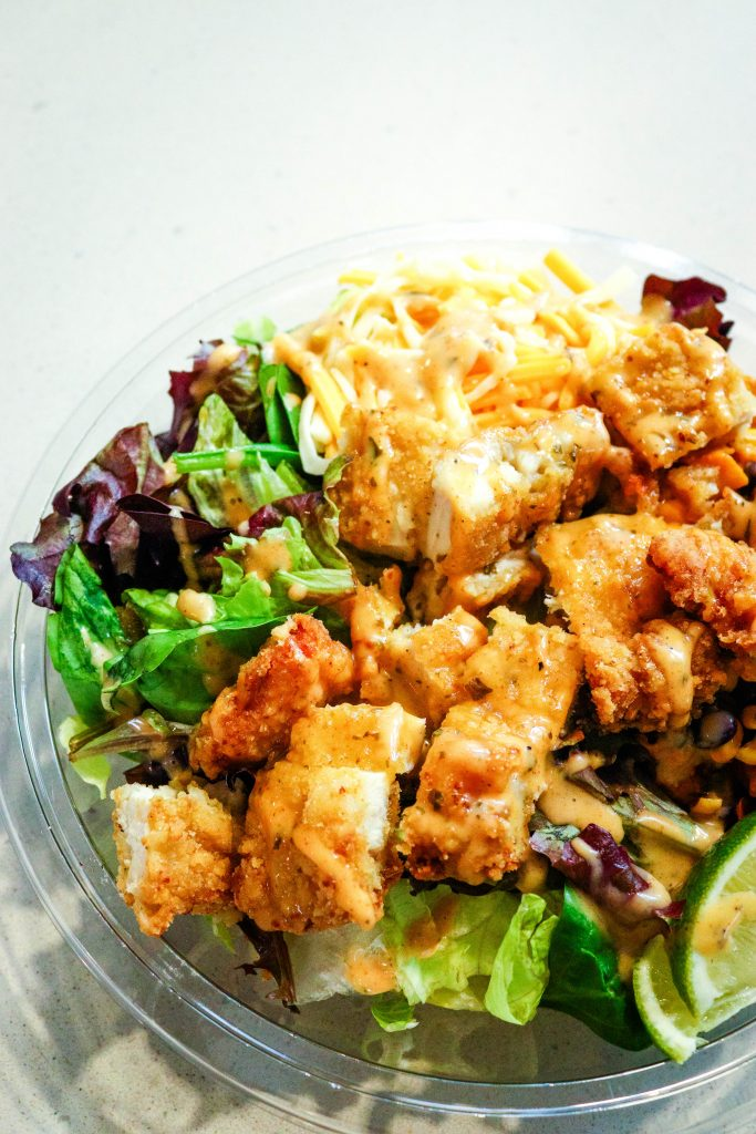 McDonald's Southwest Salad with crispy chicken