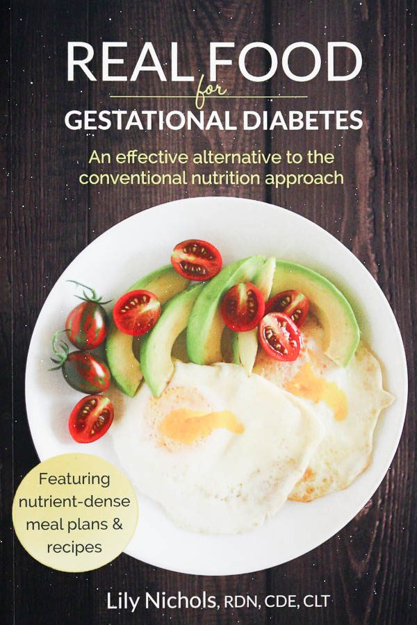 real food for gestational diabetes book cover