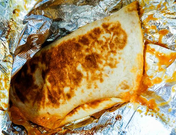 Taco Bell shredded chicken quesadilla