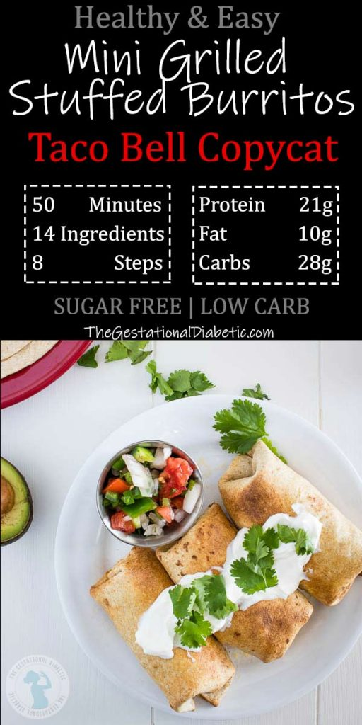 3 taco bell copycat grilled stuffed burritos with nutrition facts and recipe info