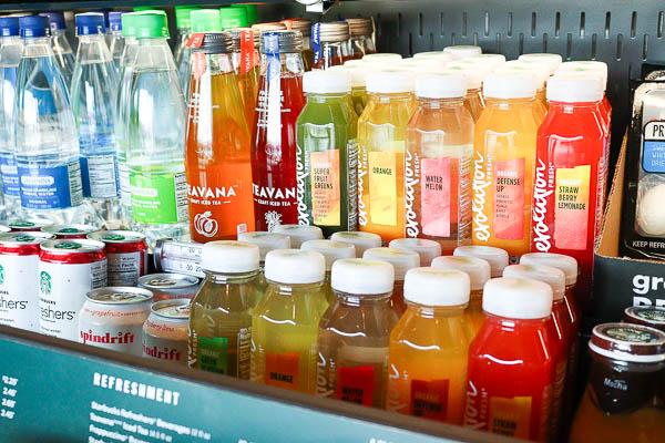 bottled drinks in case at starbucks
