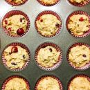 muffin pan filled