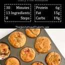 Gluten-free-low-carb-cranberry-orange-muffin-recipe-with-nutrition-facts