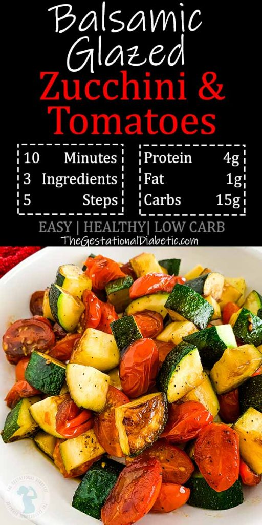 balsamic glazed zucchini and tomatoes with nutritional info