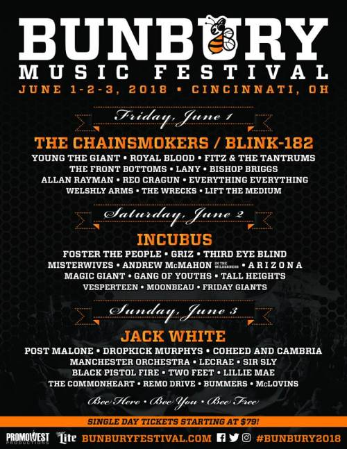 bunbury daily lineup