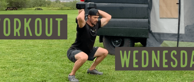 Workout Wednesday - Legs and Abs by Joe Bauer of the Get Better Project working out by the van