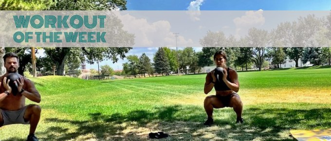 Workout of the Week - Hold Your Goblet by Joe Bauer doing goblet squats in the park