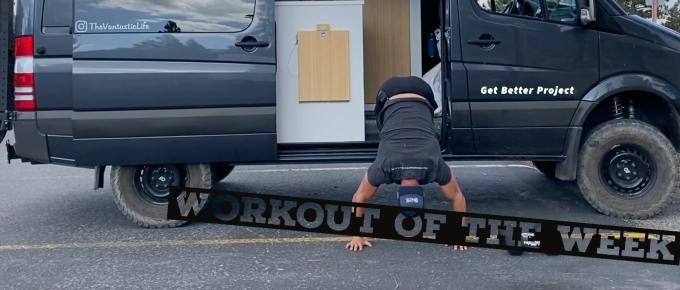 Workout of the Week - Smash IT by Joe Bauer doing handstands on van