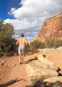Joe trail running in Colorado National Monument