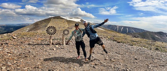 Emily and Joe at Mosquito Pass during Leadville Marathon