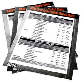Mi40 workout sheets
