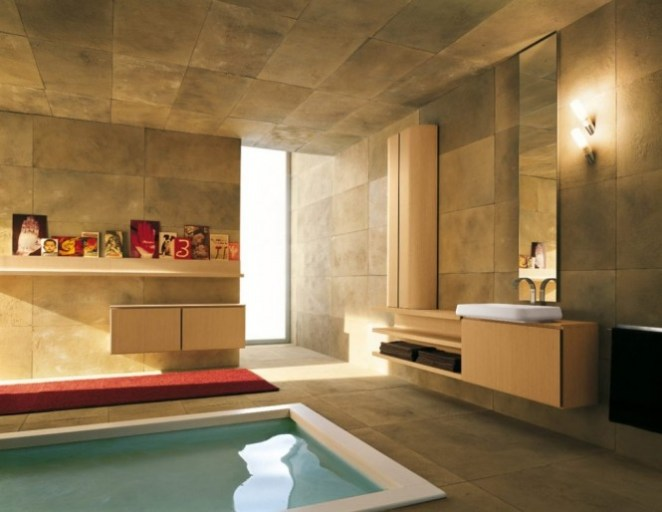 Özel tasarlanmış modern banyo