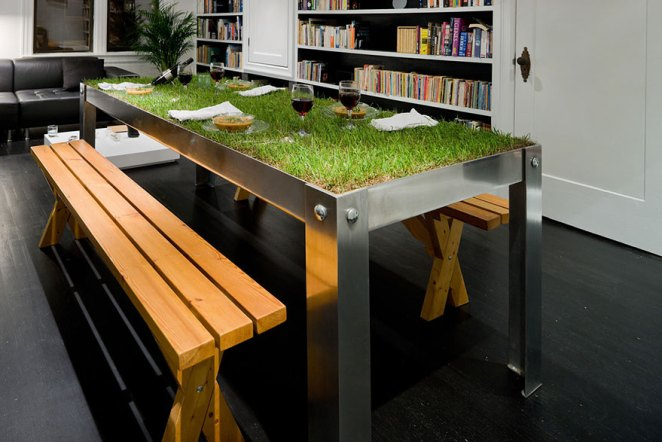 Bitkili masa tasarımı