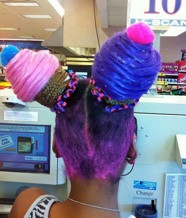 Cupcake şeklinde saç