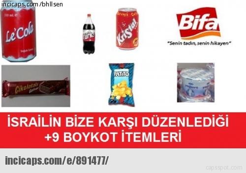 israil boykot itemleri