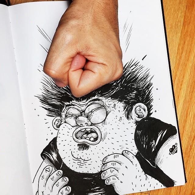 Çizdiği karaktere acı çektiren - Alex Solis-541