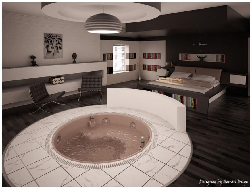 Jakuzili yatak odası
