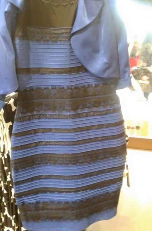 elbise mavi - siyah mı beyaz gold mu
