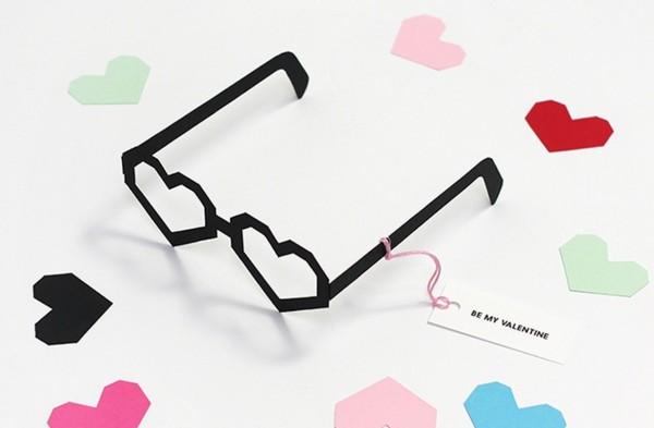 sevgililer günü kendin yap - gözlük