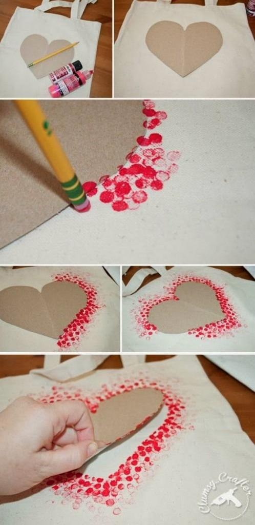 sevgililer günü kendin yap - kalpli çanta
