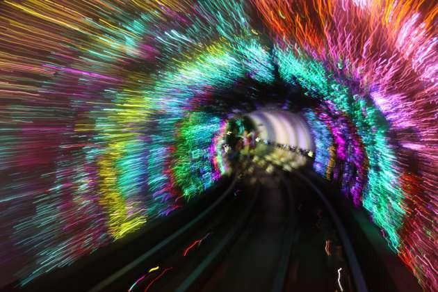 Çin Metro İstasyonu Tüneli