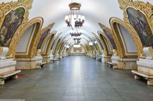 Kievskaya İstasyonu, Moskova, Rusya
