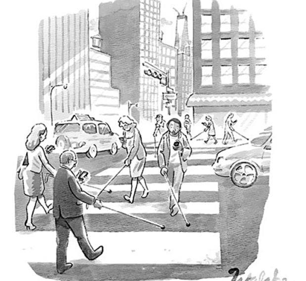 yolda telefonla yürümek